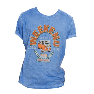 MAGENTS Weekend - T-shirt - bleu ciel