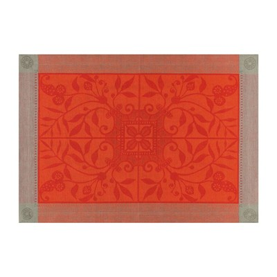 LE JACQUARD FRANÇAIS Venezia Cornaline - Set de table - en lin orange