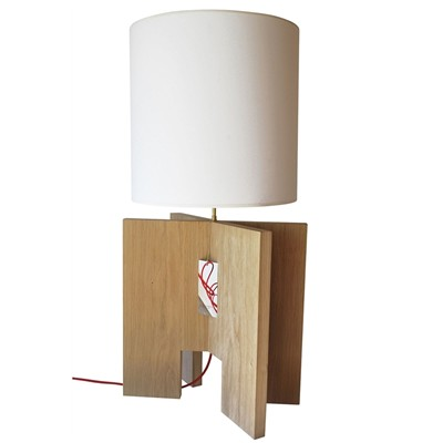 X-TOOL - Lampe de table design en bois - Beige clair