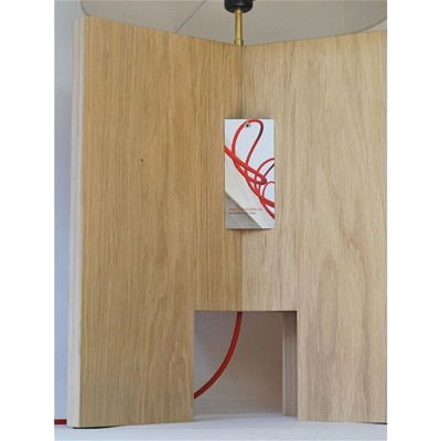 OPEN DESIGN X-TOOL - Lampe de table design en bois - Beige clair