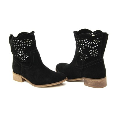 Bottines en daim - noir