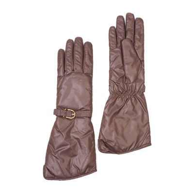 VINCENT PRADIER Gants longs - marron