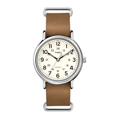 The Weekender - Montre en cuir - Marron