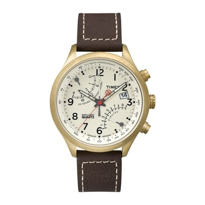 Intelligent Quartz - Montre en cuir - marron