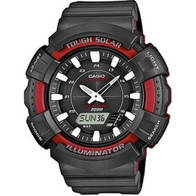 Casio Collection - Type : chrono - Noir/Rouge