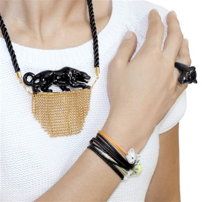 In the Jungle - Collier - noir