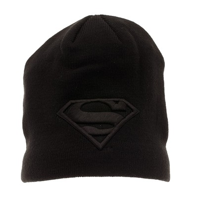 COTTON DIVISION Superman - Bonnet - noir