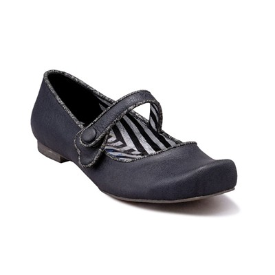 Irregular Choice ballerines en cuir - noir