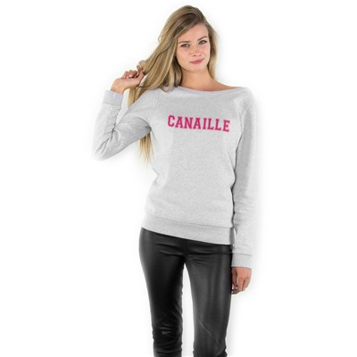 FRENCH DISORDER Sweat Pink Canaille - gris