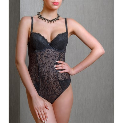 VALLETTA Amelia - Body string en voile - noir
