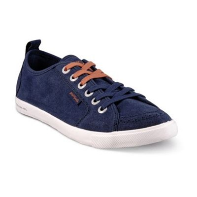 Tennis/Baskets/Sneakers Peopleswalk FLY 0051M Marine Croute de Cuir Gomme / Marine