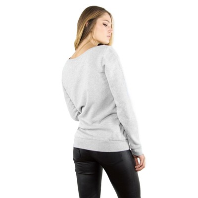FRENCH DISORDER Sweat Pompadour glitter en coton - Gris Chiné