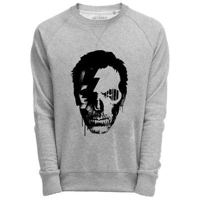 Sweat Shirt Gris imprimé doctor house graphic design - gris