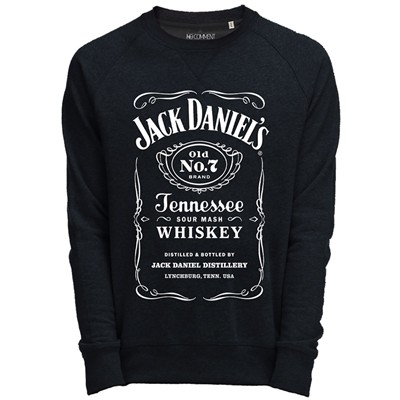 NO COMMENT PARIS Sweat Shirt noir imprimé jack Daniels - noir