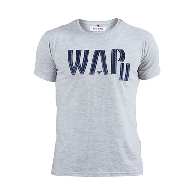WAP TWO Feutre - T-shirt - gris chine