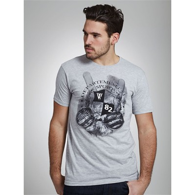 WAP TWO Peace - T-shirt - gris chine