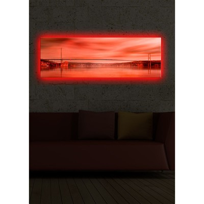 DECO WALL Tableau mural à LED - rouge
