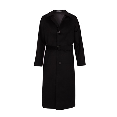 Manteau Long 100% Cachemire - noir