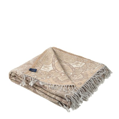 MADURA Kashmir - Plaid - Naturel et gris