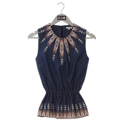 MANOUSH Top - denim azul