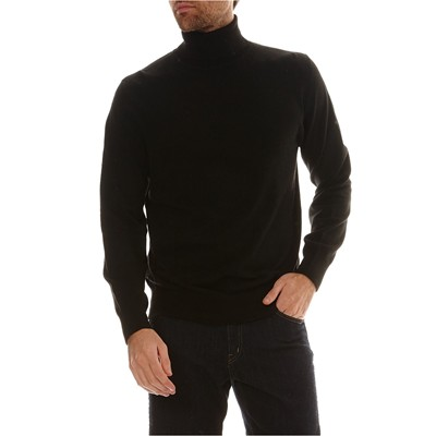 William De Faye Jersey con cachemir - negro