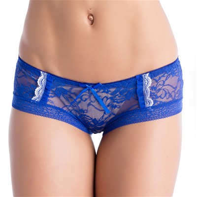 CHARNELLE Aude - Ensemble soutien-gorge push up et shorty - bleu