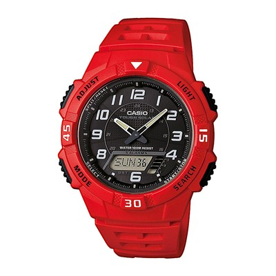 Sports - Montre digitale et analogique - rouge