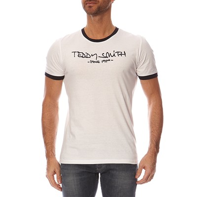 TEDDY SMITH Ticlass - T-shirt manches courtes - blanc