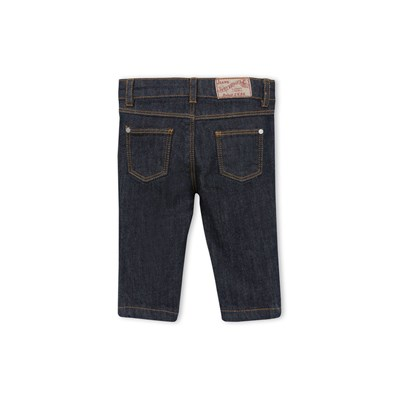 Pantalon slim bébé mixte en denim stretch - bleu