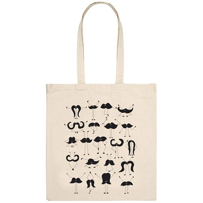 MONSIEUR POULET Moustache group - Tote Bag - naturel