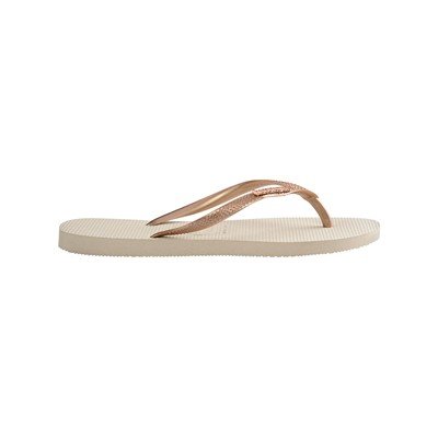 HAVAIANAS Slim Logo Metallic - Tongs - beige