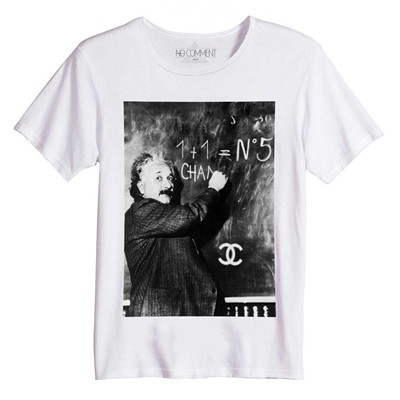 NO COMMENT PARIS Einstein Théory - T-shirt manches courtes - blanc