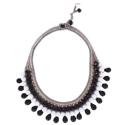 Ethnic Black Drop - Collier - bicolore