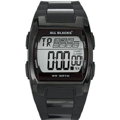 All Blacks montre bracelet en résine - noir