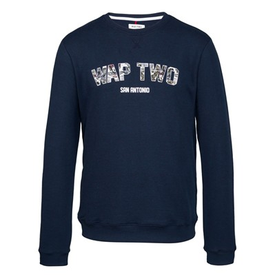 WAP TWO Flowers - Sweat-shirt - bleu marine