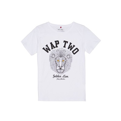 WAP TWO Sad - T-shirt imprimé - blanc