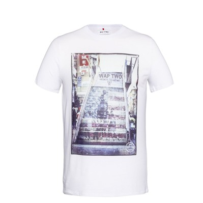 WAP TWO Step - T-shirt imprimé - blanc