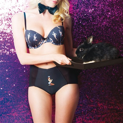 PLAYBOY Jackie - Shorty ventre plat - noir