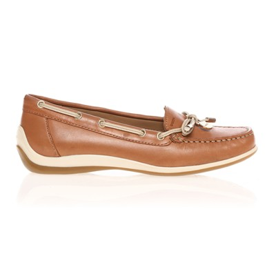 YUKI - Mocassins - en cuir marron clair