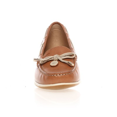 GEOX YUKI - Mocassins - en cuir marron clair