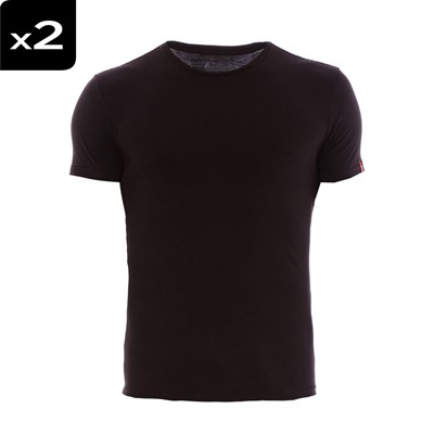 Crewneck - Lot de 2 t-shirts - noirs
