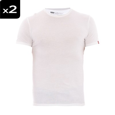 Crewneck - Lot de 2 t-shirts - blancs