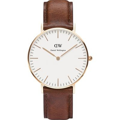 Daniel Wellington st andrews - montre analogique en cuir - marron