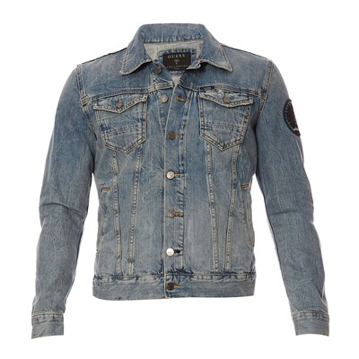 GUESS William Bleached Lesson - Blouson - bleu