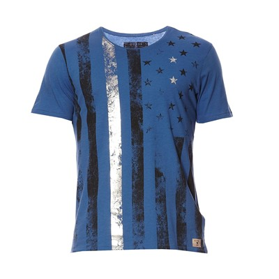 GUESS Skream Flag - T-shirt - bleu