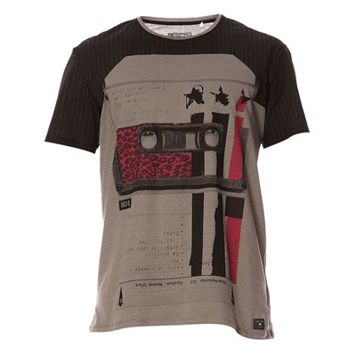 GUESS Tape Selector - T-shirt manches courtes - gris