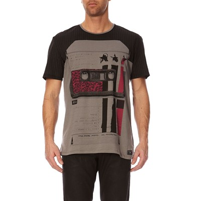 GUESS Tape Selector - T-shirt - gris