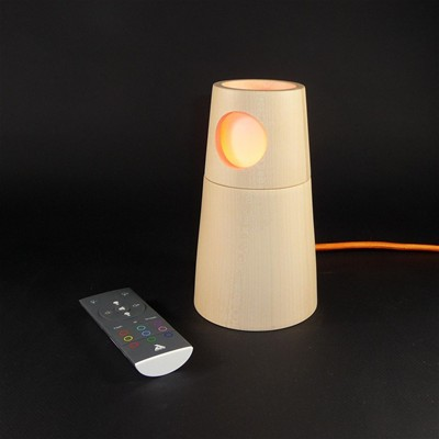ARTWOOD CREATIONS MuSyca Lighthouse - Veilleuse design en bois connecté Bluetooth