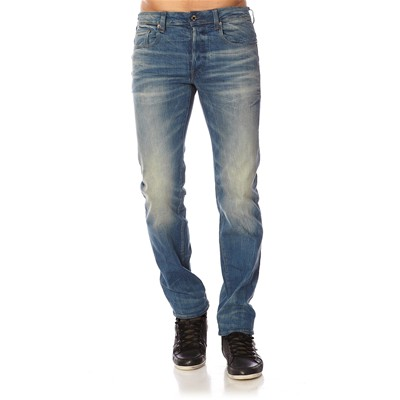 3301 straight - Jean regular - bleu