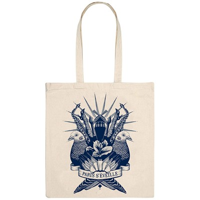 MONSIEUR POULET Paris-çi les clichés - Tote Bag - naturel